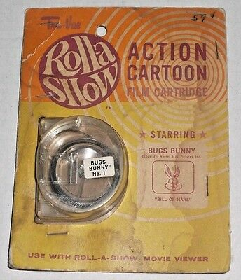"Roll-a Show Action Cartoon Film Cartridge BUGS BUNNY No. 1 ""Bill of Hare""  6E"
