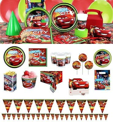 NEW Disney Cars 3 Birthday Party Tableware Balloons Decorations Pixar McQueen