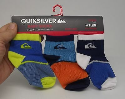 Quiksilver Set 3 Pairs Socks Baby Boys 18 - 24 Months New  A-1