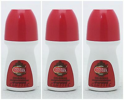 3 X Cussons Imperial Leather Roll On Deodorant/antiperspirant 50Ml 24 Hr