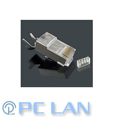 10x RJ45 8P8C CAT7 Ethernet Network Modular Plug