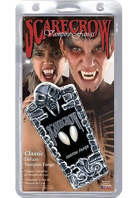 Classic Deluxe Vampire Fangs, White, Scarecrow