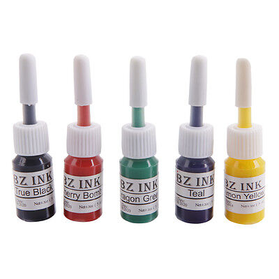 Professional Tattoo Inks Set 1oz 5ML Bottles Pigment Paint Kit for Body Art