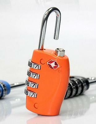 Orange Security 4 Digit Travel Suitcase Luggage Bag Code Lock Padlock For TSA 30