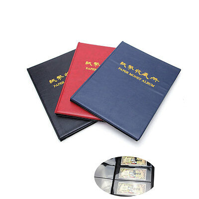 60 Paper Money Note Holders Collection Collecting Storage Pockets Album Book Hot