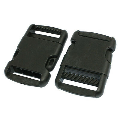 "Luggage Strap 1 1/4"" Replacement Plastic Quick Release Buckle 2 Pcs SH"
