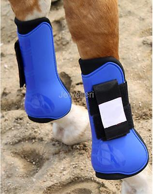 Neoprene Lined Horse Jumping Tendon Front Leg Boots Protector Bandage Wrap
