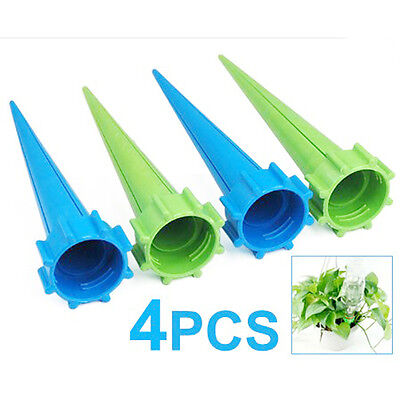4 x Garden Watering Spikes Plant Waterers Bottle Irrigation System Santa Gift SH
