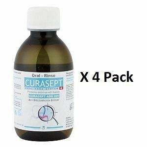 Curasept Mouthrinse 0.05% 200ml x 4 Pack