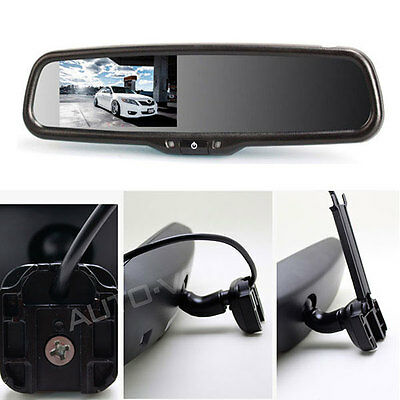 "4.3"" LCD Car Auto Reversing Rearview Mirror Monitor for Camera DVD OEM bracket"