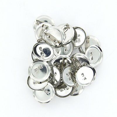 20pcs Silver Brooch Safety Pin Back Base 20mm for DIY Hairpins/Brooches SH