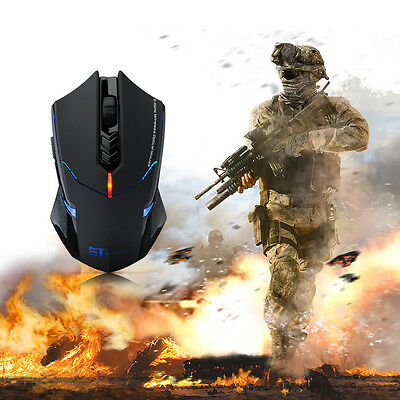 7 Button 2400 DPI USB Optical Wireless Gaming Mouse Mice for Pro Gamer PC Laptop