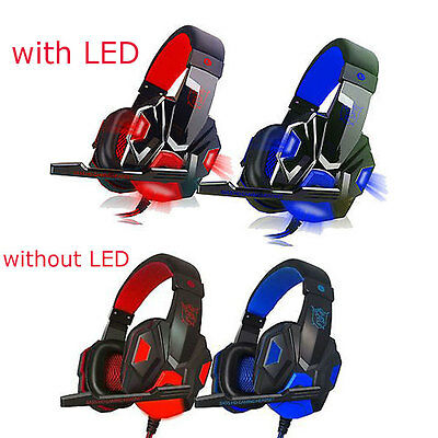 hot 3.5mm Surround Stereo Gaming Headset Headband Headphone with Mic for PC lc