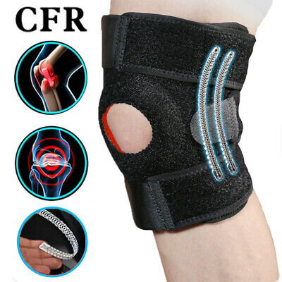 Open Breathable Knee Support Brace Protector Sports Football Compression Stretch