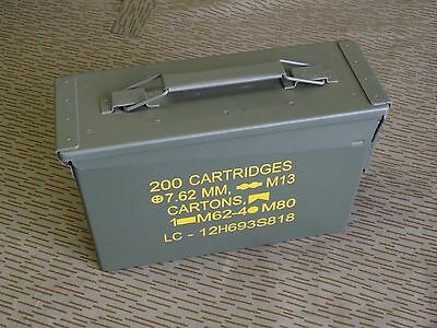 US Ammo Cans Steel Box 30 Cal Nato Standarts 200 M19A1 - New - Qty 1