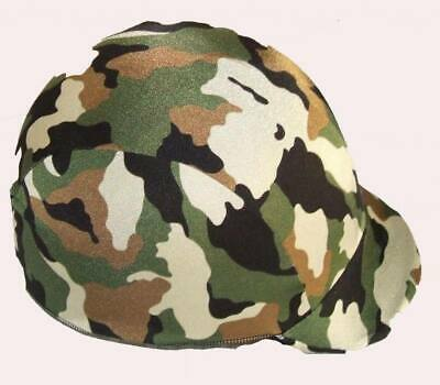 Ecotak lycra helmet cover - Camoflague with a metalic finish