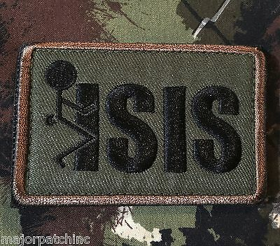 Fxck Screw Isis Usa Infidel Isaf Army Morale Forest Velcro® Brand Badge Patch