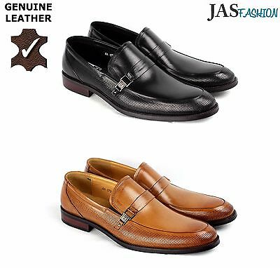 Men Leather Slip On Shoes Dress Wedding Smart Office Formal Casual Loafers Size