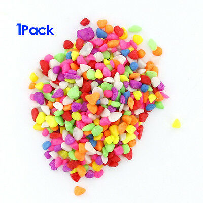 1 Pack of Colorful Aquarium Gravel Fish Tank Decoration SH
