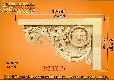 "Staircase Step Decorative End Bracket 10-7//8/""W x 6-7//8/""H x 3//4/""Thick"