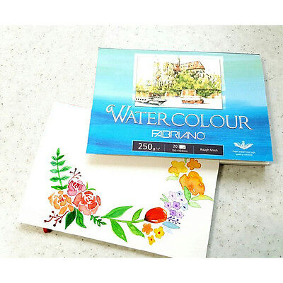 FABRIANO Watercolour Sketch Paper Book Postcard Size 250gsm 20 sheets Pad