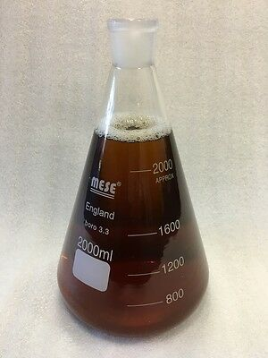 Conical Flask Erlenmeyer Borosilicate, 2000 ml, 2 litre, glass joint 29/32
