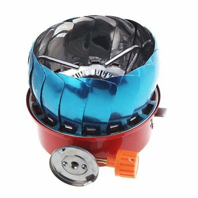 Windproof Stove Cooker Cookware Gas Burner for Camping Picnic Cookout BBQ SH