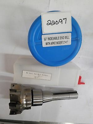 "3"" X 1"" Indexable 90° Facemill & 1"" R8 Shell Mill Arbor Set **new** Pic#22097"