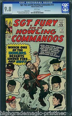 Sgt Fury & His Howling Commandos #12 Cgc 9.8 White Pages 1 Of 1 Cgc #1213365015