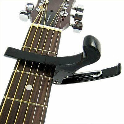 Quick Change Folk Acoustic Electric Guitar Banjo Trigger Capo Key Clamp SH