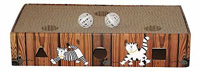 ENVIRONMENTALLY FRIENDLY CAT SCRATCHER   ACTIVITY TOY including CATNIP and TOYS