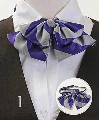 Lady's College Stripe Banded Bow Ties (LCB01)