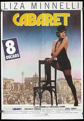 R420 CABARET French poster,  R70s Liza Minnelli sings & dances in Nazi Germany