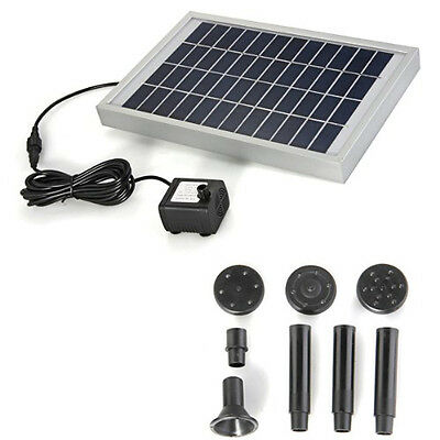 Solar Energy Water Pump Panel for Fountain Pond 12V 380L / H SH