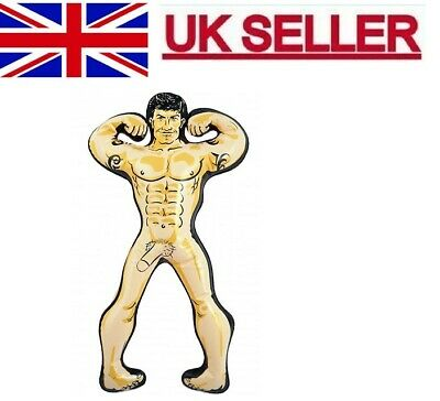 Inflatable 32Cm Hunk Man  Blow Up Doll Willy Girls Hen Night Joke Party