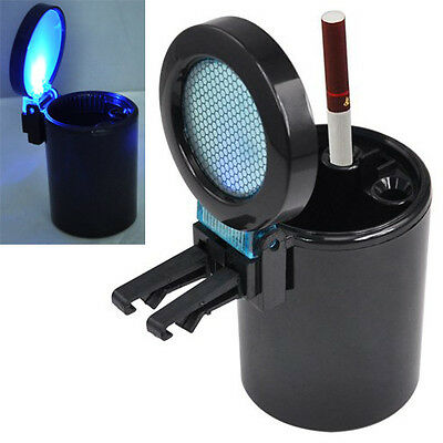 Car Auto LED Light Smokeless Ashtray Cigarette Holder SH