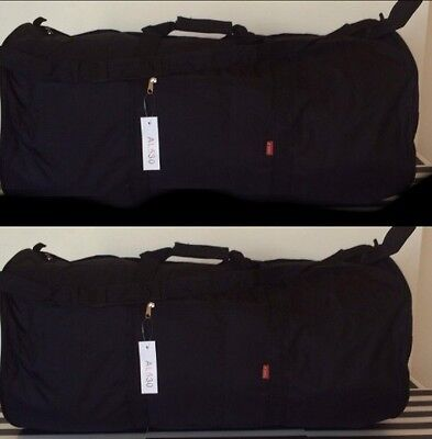 "LOT OF 2x18"" Black Jumbo Roll Tube Cargo Bag Duffel Camping Sports Travel Luggag"