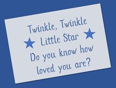 Reusable Mylar Twinkle little star Stencil Template for Crafting decor Wall art