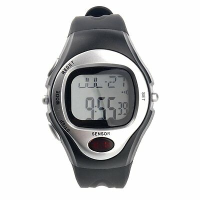 R022M Waterproof Sports Pulse Rate Monitor Counter Digital (Silver) SH