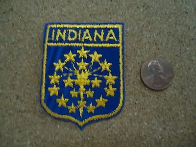 Vintage Indiana State Patch New Old Stock