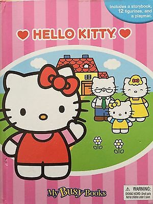 HELLO KITTY - My Busy Books Storybook, 12 Figurines & PLAYMAT