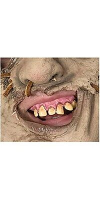 Texas Chainsaw Massacre Leatherface Prosthetic Teeth, Tan, Rubies