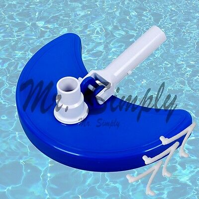 Weighted Curved Vacuum Head Cleanner Pool Spa Pond Cleaning ABS Extra Clip New