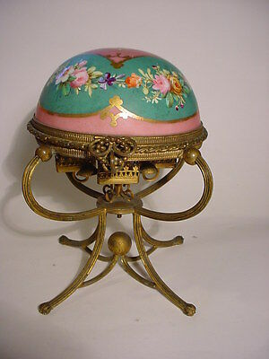 Wonderful French PALAIS ROYAL Hand Painted PORCELAIN SCENT CADDY or ETUI