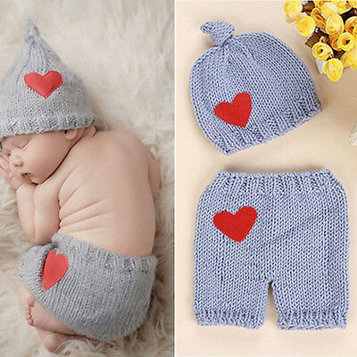Newborn Baby Girls Boys Crochet Knit Costume Photo Photography Prop Outfits Hot
