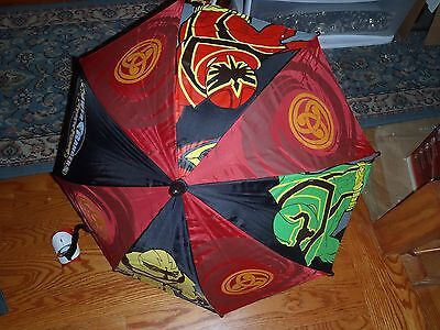 "Power Rangers Group Kids 20""  Umbrella with Fgiure Handle -BRAND NEW w/ TAGS"