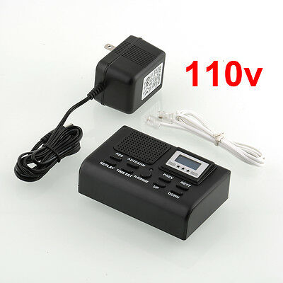 Telephone Call Recording SD Card Phone Line Automatic Recorder 110v Box