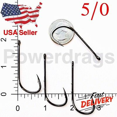 100 Size #2 Baitholder Fishing Hook Chemically Sharpened Black Jig Hooks 2 USA