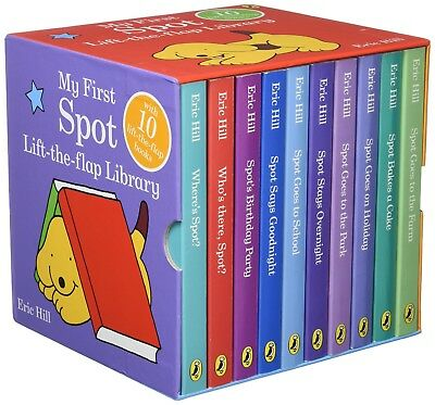 SPOT's Story Library 12 Story Books Set Collection Box set Eric Hill Hard Cover