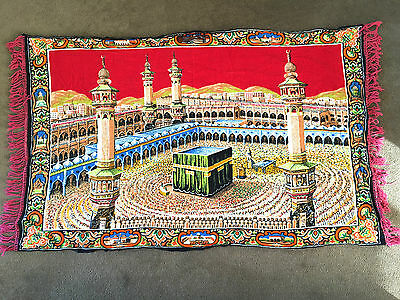 Mecca Mosque Islamic Wall Hanging Prayer Carpet Masjid Al-Haram – ExC